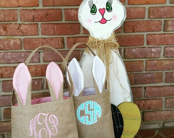 Monogrammed Easter Bunny Tote