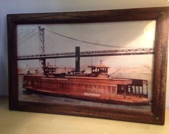 Framed boat picture