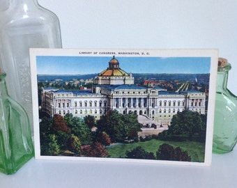 Library of Congress Washington, D.C. - unused postcard