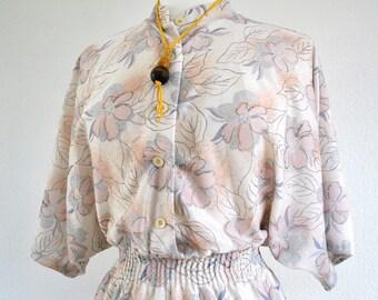 Vintage 80s floral dress sz 12
