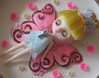 OOAK Petite Blythe fairy princess doll