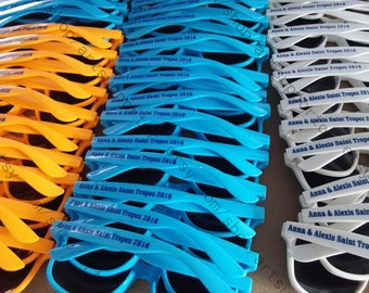 15+ color printing wedding sunglasses personalised bacheloratte gifts stag gifts hen gifts party mementos 15+