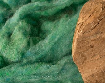 Wool Fluff Basket Stuffer, Photography Prop, Sea Green, Mint, Robins Egg, Textured Wool Batting, Childrens Photo Prop, Natural, Fleece