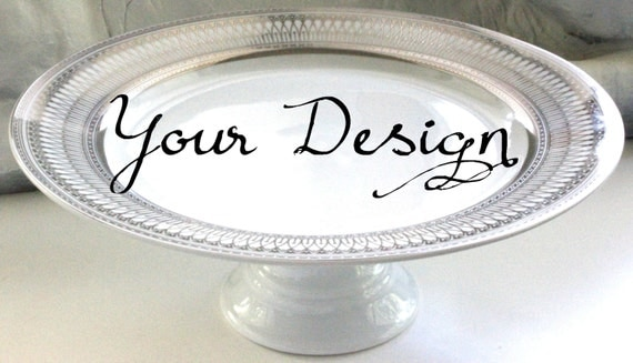 Silver or Gold Custom Wedding Cake Stand Personalized Cake Stand Bespoke Cupcake Stand & Silver or Gold Custom Wedding Cake Stand Personalized Cake
