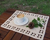 Crochet pattern table placemat, table runner, home decor, table mat decoration, kitchen,  Instant download PDF
