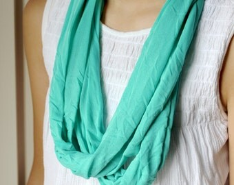 Teal Jersey Knit Infinity Scarf