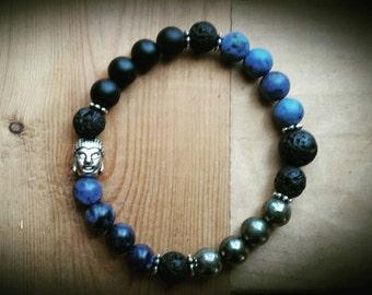 Essential Oil Diffuser Bracelet - Lava Rock, Stretch, Gemstone