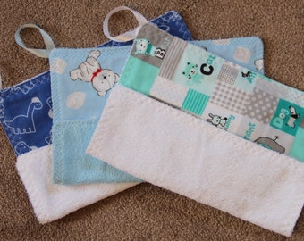 Baby Wash Cloths~set of 3 #22B-1050