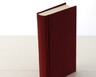 Handbound hard cover journal - Red with geometric endpapers