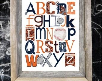 DETROIT TIGERS ABC Nursery Art print...
