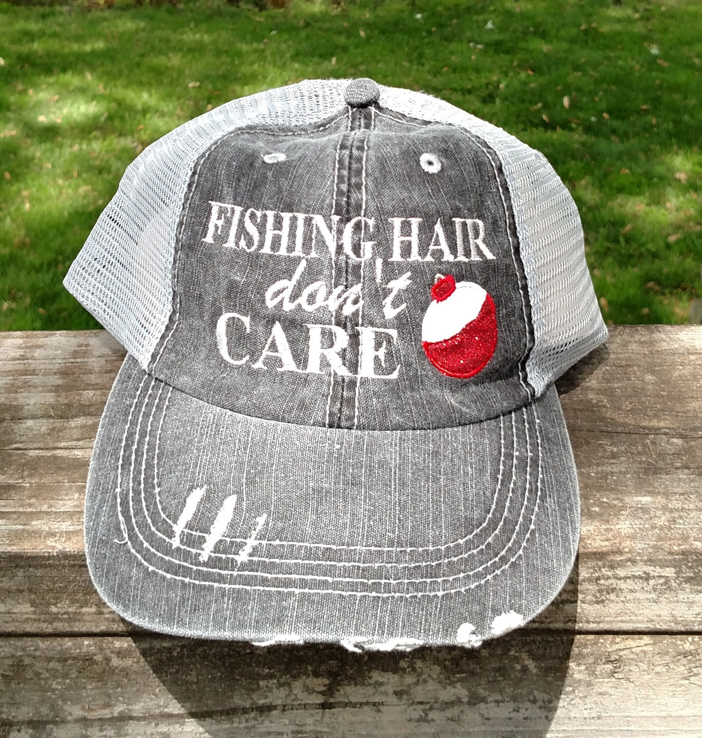 Fishing Hair Don T Care With Glitter Bobber