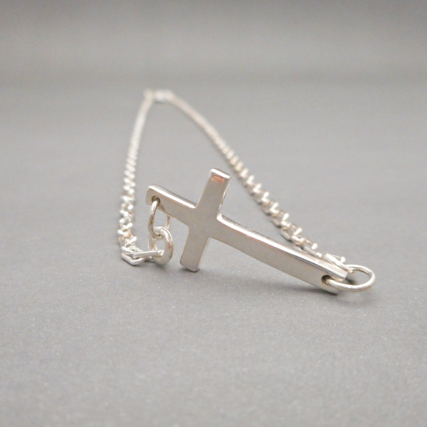 mens cross necklace silver sideways cross cross jewelry. Black Bedroom Furniture Sets. Home Design Ideas