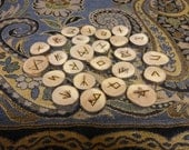 Apple rune set - apple branch - Elder Futhark - FREE DOMESTIC SHIPPING