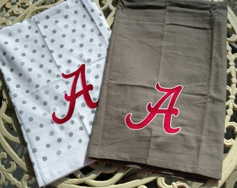 Embroidered Alabama Flour Sack Towel Set * Perfect Hostess Gift