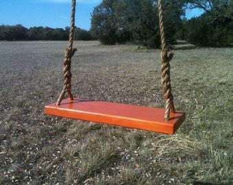 Medium Orange Tree Swing