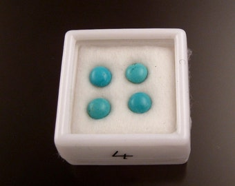 Turquoise Cabochons 5mm rounds parcel 4