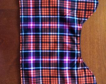 Halloween Plaid Burp Cloth