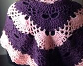 Sarah Prayer Shawl Wrap Scarf Hand Crocheted