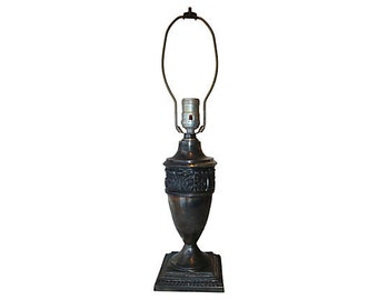 Vintage Classical Silverplated Table Lamp
