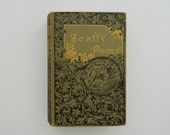 The Poetical Works of Sir Walter Scott. gorgeous antique victorian book circa early 1900.
