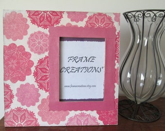 5x7 Floral Themed - Hand Decorated Picture Frame