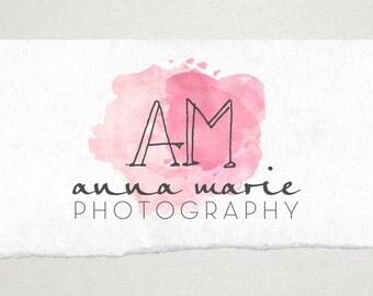 Premade Logo // Logo Design // Business Logo //  Photography Logo // Watercolor Splash Logo