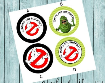 Ghostbusters Favor Tags/Stickers- Printed and Shipped to you!