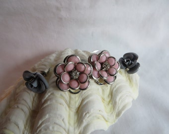 Two Pair Flower Post Earrings
