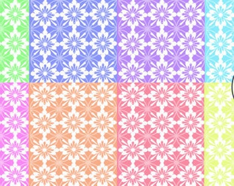 Digital download--Printable pastel damask tile JPG files for cake decorating, scrapbooking  paper, printed wafer paper