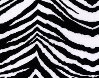 PER Yard Black White Zebra Party Animal DC4157-Blac-D Michael Miller Fabric Clearance Sale Fabric Sale
