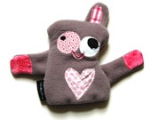 Medium Plush Durable Dog Toy with Heart Fortune & Squeaker - Huh-What by Fugly Friends