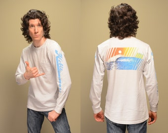 vintage 80s Hobie t-shirt surf graphic tee shirt t-shirt 1980 beach ocean long sleeve tee medium M large L