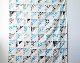 Handprinted Faux Patchwork Quilt