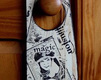 Wicca Themed Hanging  Wooden Door Plaque