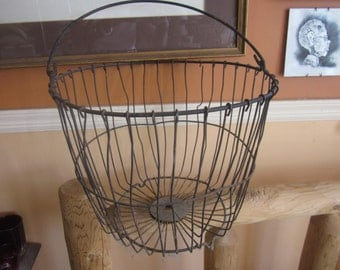 huge iron egg basket, farm find, industrial, steam punk repurpose me