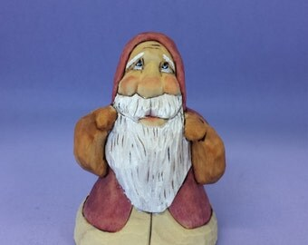 Collectible Santa Claus wood carving hand carved Christmas decoration Holiday decor carved wood Santa figurine hand made Christmas ornament