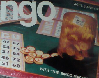 Bingo.  Vintage 1981 Cardinal Bingo #1060.  MIB  Vintage Game.  Family Game.  Y-200
