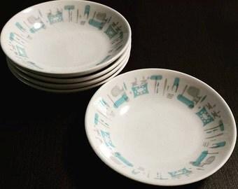 Blue Heaven Dinnerware Fruit/Sauce/Dessert Bowl Atomic Mid Century
