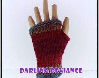 Fingerless Gloves - Mullberry