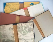 5 gutted books vintage book covers . vintage gutted books . book covers for journal making . journaling supplies . gutted hardcovers