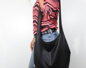 black leather purse hobo bag. design your own cross body bag or shoulder purse large or medium. Fall line.
