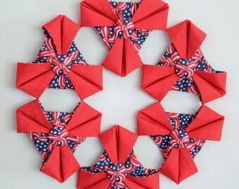 4th July Handmade Wreath for home decor