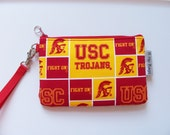 USC Trojans NCAA Wristlet/Purse/Pouch/Bag/Wallet/Phone Holder/Ipod/Game Day/Gift Idea