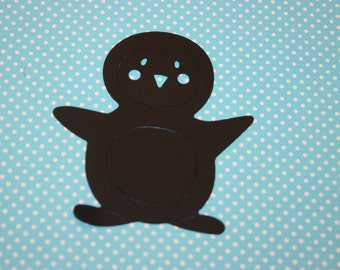 Penguin Die Cut 10 CT- Die Cut- Cutout- Custom Colors Available