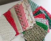 Vintage 1970's Christmas Fabrics-Free Shipping to US and Canada