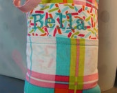 Hold for Cassierentfrow- Tooth Fairy Pillow with tooth holder: Plaid with jellybeans