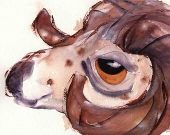 Bighorn Sheep Art, Large Animal Art Print, Wildlife Print, Children's Decor