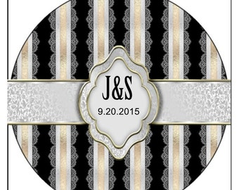 Custom Wedding Labels, Personalized wedding labels, wedding labels, custom wedding stickers, wedding stickers, 3 sizes available