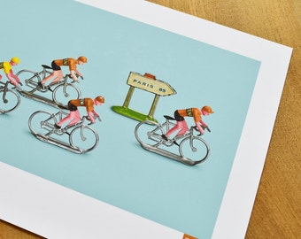 Tour de France, Molteni Team Cycling Art Print