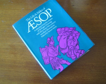 Vintage 1970 Hardcover Aesop Life And Fables